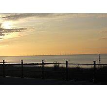 Sunset across Fleetwood Photographic Print