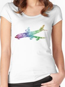 Rainbow 747 Women's Fitted Scoop T-Shirt
