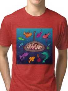 the curious submarine and surroundings Tri-blend T-Shirt