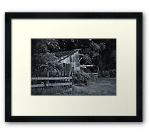 Old Barn with Fence Framed Print