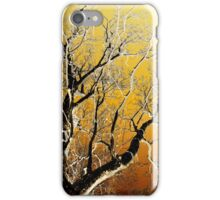 Gold Abstract Tree iPhone Case/Skin