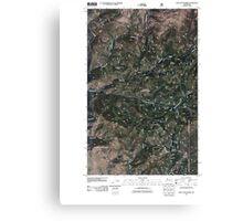 USGS Topo Map Washington State WA Loup Loup Summit 20110429 TM Canvas Print