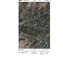 USGS Topo Map Washington State WA Loup Loup Summit 20110429 TM Photographic Print