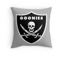 The Goonies Skeleton Logo - Oakland Raiders Spoof Logo Throw Pillow
