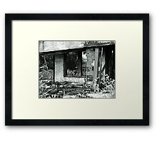 House Fire Framed Print