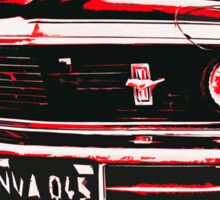Red Ford Mustang Sticker
