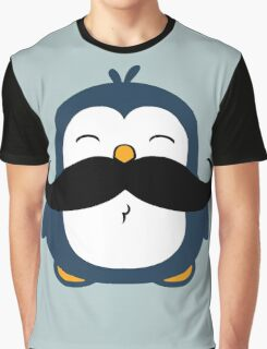 Mustache Penguin Graphic T-Shirt