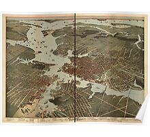 Panoramic Maps Bird's eye view of Norfolk Portsmouth and Berkley Norfolk Co Va Poster