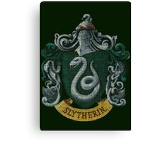 Slytherin - Faux Embroidery Canvas Print