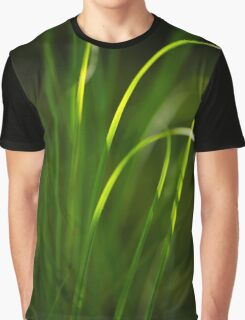 Sun Kissed Grass Abstract Graphic T-Shirt