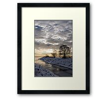 Broken Ice, Broken Clouds Framed Print