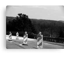 Construction (Black and White) Canvas Print