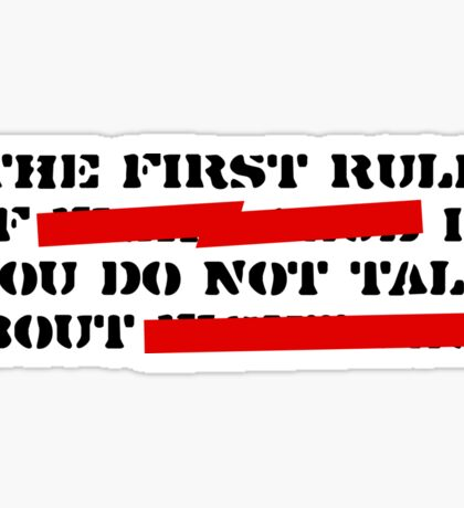 the first rule of fight club Sticker