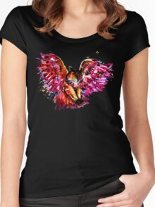 Flying Owl Women's Fitted Scoop T-Shirt