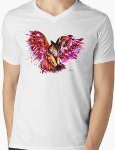 Flying Owl Mens V-Neck T-Shirt