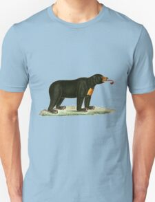 Brown Bear with long curly tongue Vintage Illustration Unisex T-Shirt