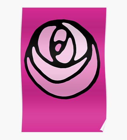 Magenta Rose Poster