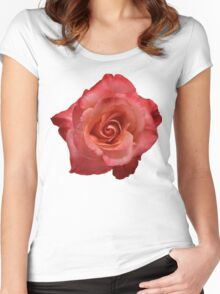 Ombré Red Garden Rose III - Hipster/Pretty/Trendy Flowers Women's Fitted Scoop T-Shirt