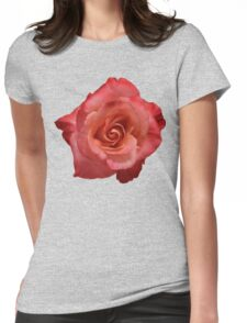 Ombré Red Garden Rose III - Hipster/Pretty/Trendy Flowers Womens Fitted T-Shirt