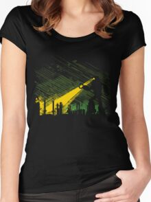 Robot Marching on the Factory Women's Fitted Scoop T-Shirt