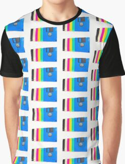 Colorful floppy discs Graphic T-Shirt
