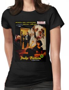 Clumber Spaniel Art - Pulp Fiction Movie Poster Womens Fitted T-Shirt