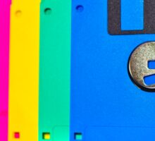 Colorful floppy discs Sticker