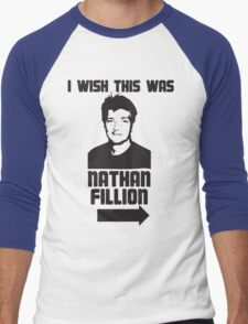 I Wish This Was Nathan Fillion Men's Baseball ¾ T-Shirt