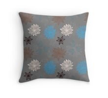 Earthy FlowerZ Throw Pillow