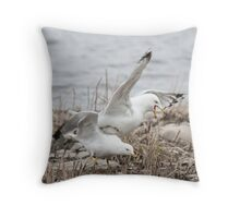 Another Bucking Gull Throw Pillow