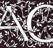 William Morris Inspired AC Monogram by Donna Huntriss