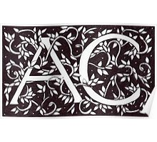 William Morris Inspired AC Monogram Poster
