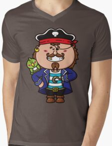 kawaii Pirate Mens V-Neck T-Shirt