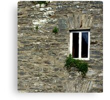 Stone Wall With Window Canvas Print