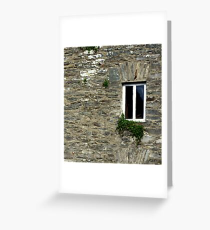 Stone Wall With Window Greeting Card