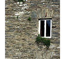 Stone Wall With Window Photographic Print