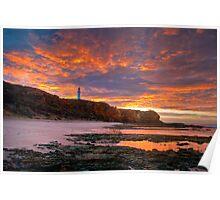 Sunrise over Split Point Lighthouse (1) Poster