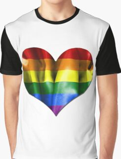 Gay Pride Love Heart Graphic T-Shirt