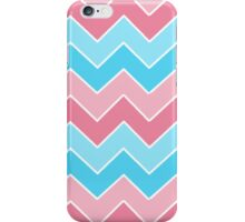 Pink and Blue Chevron  iPhone Case/Skin