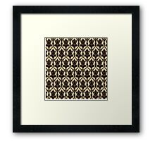 Baker Street 221b Wallpaper Framed Print