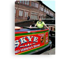 Police escort through Birmingham ! Canvas Print