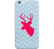 Neon Pink Deer Silhouette  iPhone Case/Skin