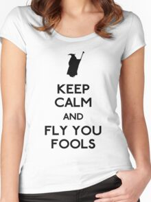 Keep calm you fools Women's Fitted Scoop T-Shirt