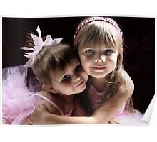 Sisters Wearing Pink Poster