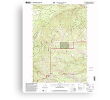 USGS Topo Map Washington State WA Darland Mountain 240773 2000 24000 Canvas Print