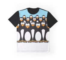 Pensive Penguin Army Graphic T-Shirt