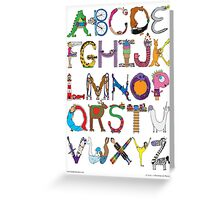 Children's Alphabet Greeting Card