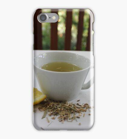 Lemongrass Tea and Lemon Slice iPhone Case/Skin