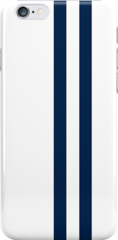 White with Dark Blue Racing Stripes by txjeepguy2