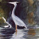 Grey Heron by Sandra Lee Woods